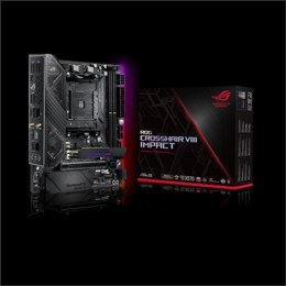 Asus ROG CROSSHAIR VIII Impact Processor family AMD, Processor socket AM4, DDR4, Memory slots 4, Number of SATA connectors 4 x S