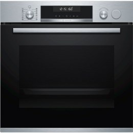 Bosch Oven HRA558BS1S 71 L, Built-in, EcoClean, Push-in regulators / Rotary knobs, Steam function, Height 59.5 cm, Width 59.4 cm