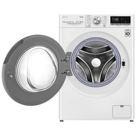 LG Washing Machine With Dryer F4DV710S1E A, Front loading, Washing capacity 10.5 kg, 1400 RPM, Depth 56 cm, Width 60 cm, Display